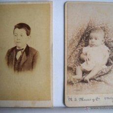 Fotografía antigua: 2 TARJETAS DE VISITA ANTIGUAS - HABANA Y GERONA, FOTÓGRAFO J. MASAGUER. Lote 41998849