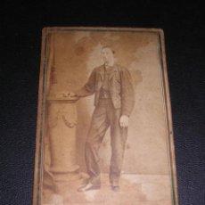 Fotografía antigua: CARTE DE VISITE -MR.HOSTENC FOTGR. C. FERNANDO BARCELONA - 10,5X6,5 CM. . Lote 42381119
