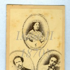 Old photograph - ISABEL II - FRANCISCO DE ASÍS - ALFONSO XII - 1870'S - 42662532
