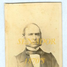 Fotografía antigua: SENADOR - LIMINIANA - 1870'S - MADRID . Lote 42673365