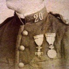 Fotografía antigua: FOTOGRAFIA ALBUMINA, MILITAR, CDV, ESTUDIO L. SANCHEZ, VALENCIA, 1850S, CARTE DE VISITE, 10 X 6 CM. Lote 42805231
