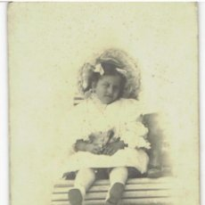Fotografía antigua: ANTIGUA FOTOGRAFIA DEL FOTOGRAFO EMILIO F MEDALLA DE ORO EN 1888 BARCELONA MIDE 16,5 X 11 CM. Lote 43204034