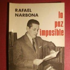 Fotografía antigua: FOTOGRAFIA - ESCRITOR RAFAEL NARBONA - AUTOR DE LIBRO. - LA PAZ IMPOSIBLE - AÑOS 60 -. Lote 43206347