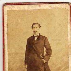 Fotografía antigua: CARTA DE VISITA. SIN IMPRESIÓN DE FOTÓGRAFO AL REVERSO. Lote 43568407