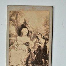 Fotografía antigua: CDV DE UN CUADRO RETRATO DE LUIS XVI Y MARIA ANTONIA. Lote 44864054