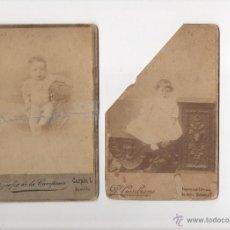 Fotografía antigua: 2 CDV NIÑOS FINALES DEL XIX. SEVILLA. LA CAMPANA Y CEMBRANO. Lote 44907114
