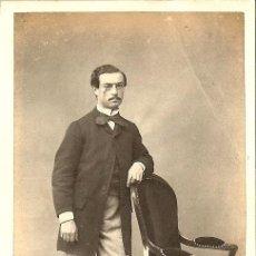 Fotografía antigua: FOTOGRAFÍA DE CABALLERO - CARTE DE VISITE - CDV - FOTÓGRAFO AUGUSTE CLOZ - SIGLO XIX. Lote 45210150