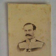 Fotografía antigua: CDV DE CABALLERO DE LA MAESTRANZA DE CABALLERIA, ARISTOCRATA SIGLO XIX . DE J.B. OLIVAR , SEVILLA. Lote 45599498