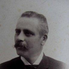 Fotografía antigua: CABALLERO. RETRATO. J. PUIG. BCN. C. 1895. Lote 45767742