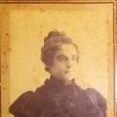 Fotografía antigua: FOTOGRAFIA DE SEÑORA DE J. DE HARO HERMANOS CARTAGENA MURCIA. Lote 45984418