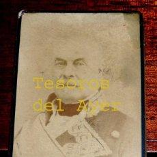 Fotografía antigua: FOTOGRAFIA ALBUMINA DEL CAPITAN GENERAL LEOPOLDO O´DONELL, TIPO CDV, FOTO L. DE REGIL, BILBAO, MIDE . Lote 46376534