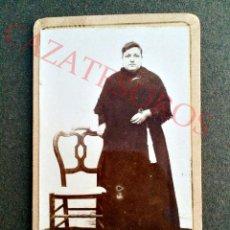 Fotografía antigua: FOTOGRAFIA DE UNA SEÑORA - CARTE DE VISITE - CDV VALENCIA - 1860 A 1870. Lote 46415029