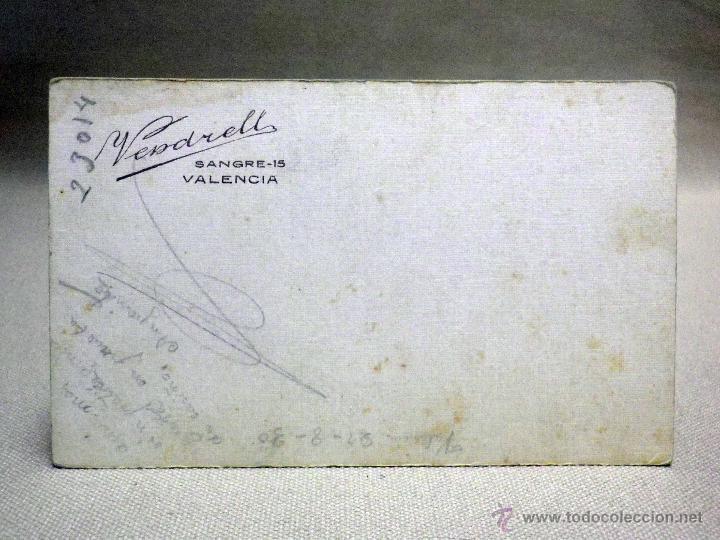 Fotografía antigua: FOTOGRAFIA ANTIGUA, CDV, ALBUMINA, MUJER, ESTUDIO VENDRELL, VALENCIA, SIGLO XIX, CARTE DE VISITE - Foto 2 - 46458162