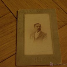 Fotografía antigua: FOTOGRAFÍA CARTE VISITE CABALLERO S. XIX. Lote 46565485