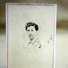 Fotografía antigua: RARA FOTOGRAFIA ANTIGUA, ALBUMINA, ESTUDIO JULIO AMIEL, SIGLO XIX, HOMBRE, CARTE DE VISITE, MEXICO. Lote 194665911