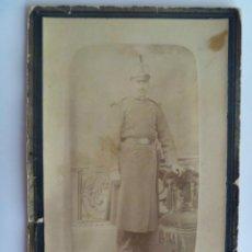 Fotografía antigua - CDV DE MILITAR INFANTERIA CON ROS, SIGLO XIX . FOTO: BRAVI , PALMA - 47700613