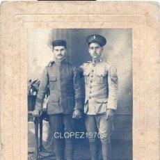 Fotografía antigua: MAGNIFICA FOTOGRAFIA MILITAR, SOLDADOS REGIMIENTO INGENIEROS CEUTA,FOT.BARCELO&RUBIO,118X170MM. Lote 48198209