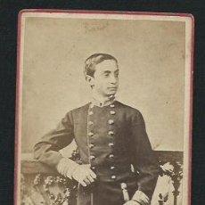 Fotografía antigua: FOTOGRAFIA ALFONSO XII - 1870?. Lote 48567842