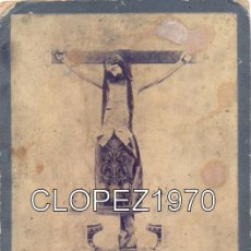 Fotografía antigua: ESPECTACULAR CDV DEL SIGLO XIX DEL CRISTO DE LOS MILAGROS DE SALAMANCA, FOTO.VDA. DE OLIVAN,114X174M. Lote 48934071