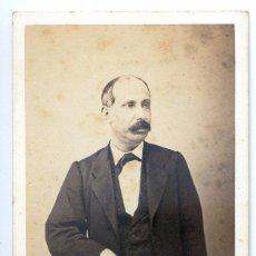 Fotografía antigua: RETRATO DE CABALLERO. CONDE DE VERNAY, FOTÓGRAFO DE SS.MM. MADRID. Lote 50653750