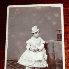 Fotografía antigua: FOTOGRAFIA CDV, E. OTERO DE MADRID, CARTE DE VISITE, ALBUMINA 1873, MIDE 10,5 X 6 CMS. APROXIMADAMEN. Lote 51073261