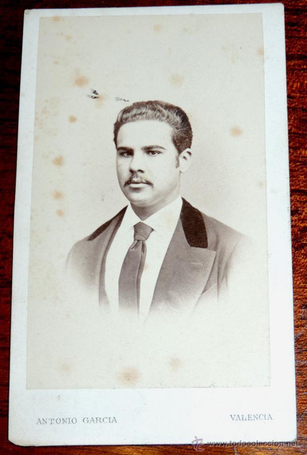FOTOGRAFIA CDV DE ANTONIO GARCIA VALENCIA CARTE VISITE ALBUMINA 1870
