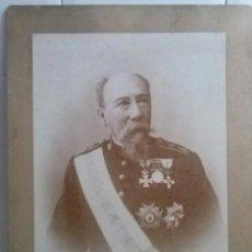 Fotografía antigua: ENORME FOTOGRAFÍA DE MILITAR DE LA ARMADA (51 X 37,5 CM),SIGLO XIX - XX ,MODERNISTA, ART NOUVEAU. Lote 51366543