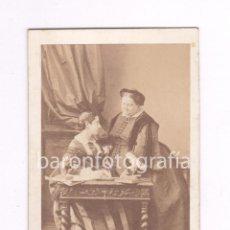 Fotografía antigua: MARÍA CRISTINA DE BORBÓN DOS SICILIAS, Y SU HIJA, LA INFANTA. 1860'S. FOTO: DISDERI, PARÍS. CDV. Lote 52031257