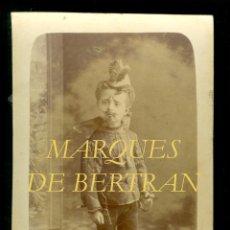 Fotografía antigua: MARQUÉS DE BERTRAN - 1870'S - NOBLEZA ESPAÑOLA . Lote 52469099