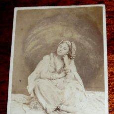 Fotografía antigua: FOTOGRAFIA ALBUMINA TIPO CDV, FOTO VAURY & CIE, PARIS, MIDE 10 X 6 CMS. APROX.. Lote 234446415
