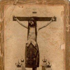 Fotografía antigua: ANTIQUISIMA FOTOGRAFIA DEL CRISTO DE LOS MILAGROS, SALAMANCA,68X110MM. Lote 52904677