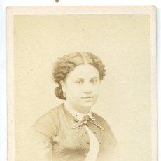 Fotografía antigua: EMILIA ADELAIDE PIMENTEL, ACTRIZ DE TEATRO, LISBOA, PORTUGAL, PHOT. ALFRED FILLON. Lote 52926954