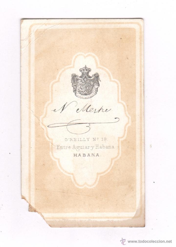 Fotografa Antigua CDV DE MILITAR ESPAOL HABANA CUBA 1860S
