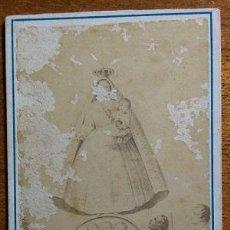 Fotografía antigua: RARISIMA FOTOGRAFIA DE LA VIRGEN DEL COBRE PATRONA DE CUBA 1872. Lote 136077117