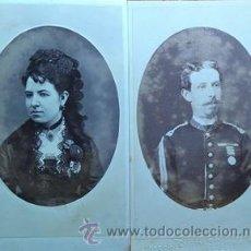 Fotografía antigua: COMANDANTE EDUARDO CASSOLA SEPULVEDA Y SEÑORA DIPUTADO Y GOBERNADOR DE CASTELLON . Lote 53274475