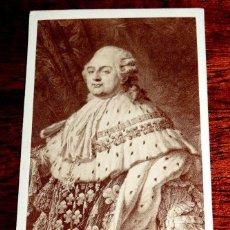 Fotografía antigua: FOTOGRAFIA ALBUMINA TIPO CDV DE LUIS XVI, REY DE FRANCIA Y DE NAVARRA, MIDE 10 X 6 CMS APROX.. Lote 53378820