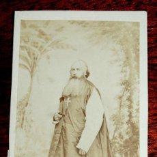 Fotografía antigua: FOTOGRAFIA ALBUMINA TIPO CDV DE MONJE, RELIGIOSO, FOTO J. LAURENT, MIDE 10 X 6 CMS. APROX. . Lote 53438748