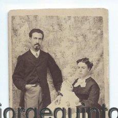 Photographie ancienne: RETRATO FAMILIAR. SIGLO XIX. ANTONIO PALENCIA FOTÓGRAFO. CALLE DE LAS CASICAS, 22. JUMILLA, MURCIA.. Lote 53585981