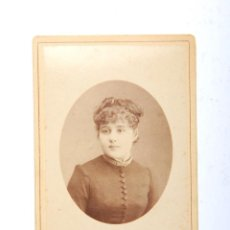 Fotografía antigua - ANTIGUA CARTA DE VISITA SEÑORA FOTOGRAFIA ESPAGNET ROUEN PARIS - 53618152