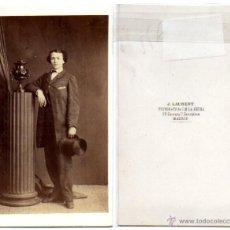 Fotografía antigua: FOTO CDV DE UNA MUJER VESTIDA DE HOMBRE (LAURENT, MADRID). Lote 53623199