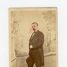 Fotografía antigua: J.LAURENT. CARTA DE VISITA. PERSONAJE DESCONOCIDO.. Lote 53686387