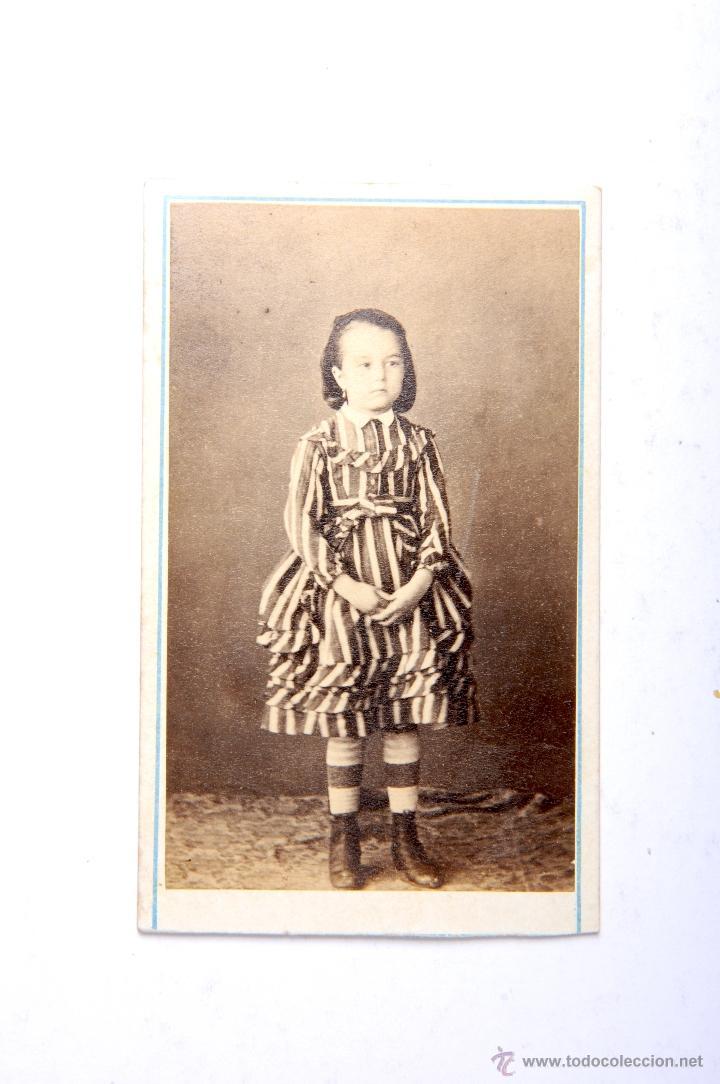 ANTIGUA FOTOGRAFIA CARTA DE VISITA NIÑA (Fotografía Antigua - Cartes de Visite)