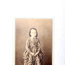 Fotografía antigua: ANTIGUA FOTOGRAFIA CARTA DE VISITA NIÑA. Lote 53728019