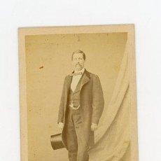 Fotografía antigua: CARTA DE VISITA M DE HEBERT RETRATISTA DE LA REAL CAMARA DE SS.MM.Y AA.. Lote 53733128