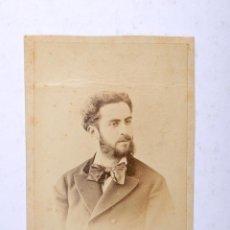 Fotografía antigua: ANTIGUA FOTOGRAFIA CARTA DE VISITA SEÑOR FOTOGRAFO G. LARAUZA BARCELONA. Lote 53746189