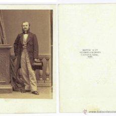 Fotografía antigua: CDV ALBUMINA DISDÉRI PARIS. SIN IDENTIFICAR 10 X 6 CM. CARTA DE VISITA. Lote 53868261