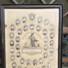 Fotografía antigua: ALUMNOS DE PROCEDIMIENTOS JUDICIALES CURSO 1872 A 1873- MEDIDAS 70CM X 54CM.. Lote 53997289