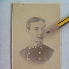 Fotografía antigua: CDV DEL REY DON ALFONSO XII JOVEN VESTIDO DE MILITAR , ORIGINAL DEL SIGLO XIX . Lote 54543482