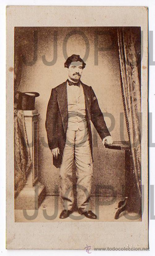ANTIGUA CARTE DE VISITE. GENERAL ULLOA. SIGLO XIX. MILITAR (Fotografía Antigua - Cartes de Visite)