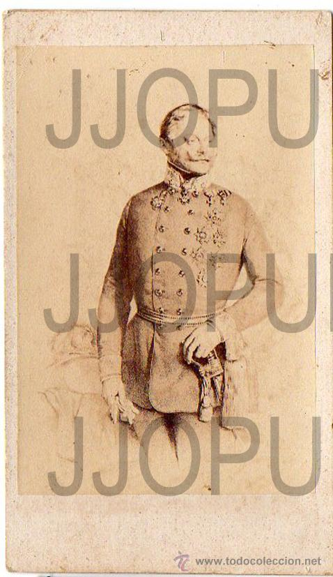ANTIGUA CARTE DE VISITE. GENERAL GINLAY. SIGLO XIX. MILITAR (Fotografía Antigua - Cartes de Visite)